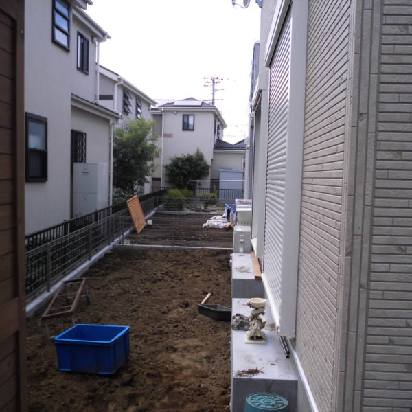 Before:テラス工事