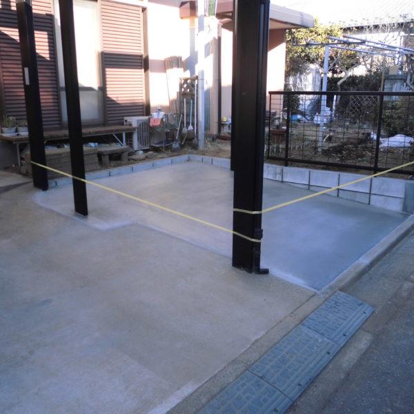 After:駐車場拡張工事