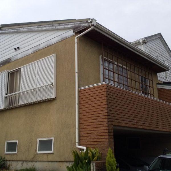 Before:外壁塗装、破風板、幕板板金カバー