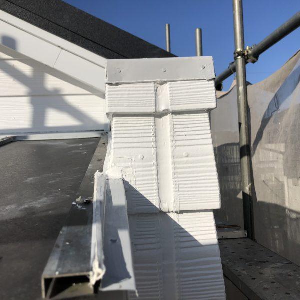After:外壁塗装、破風板、幕板板金カバー